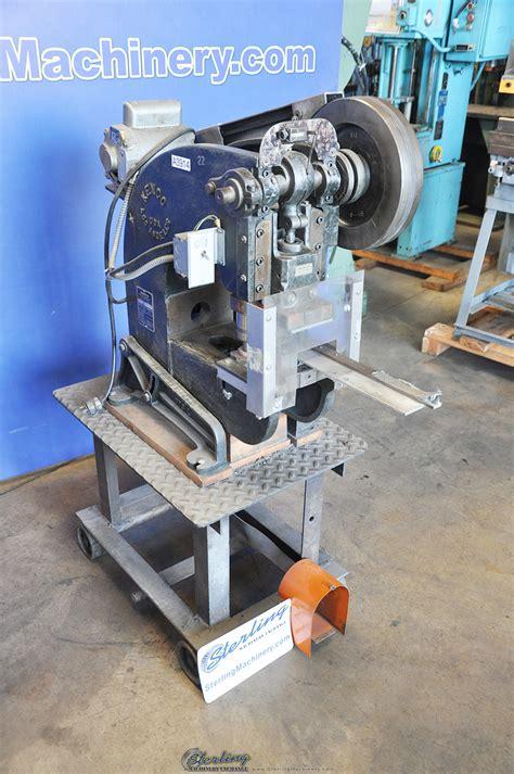 kenco obi deep throat punch press sterling machinery