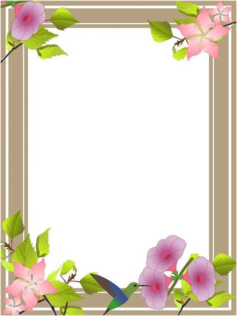Flower Clip Art Borders and Frames