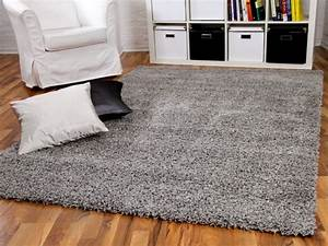 Teppich Langflor Grau : hochflor langflor shaggy teppiche in schwarz grau und anthrazit ~ Orissabook.com Haus und Dekorationen