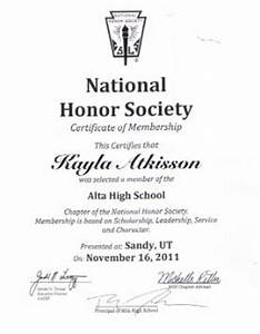 fbla electronic career portfolio With national honor society certificate template