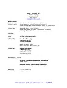 resumes for school resume objective for high school student template design