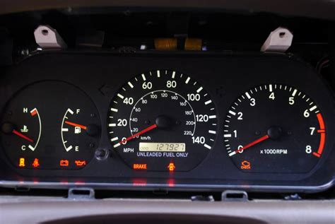 Toyota Camry Warning Lights by 97 Toyota Camry Dashboard Warning Lights