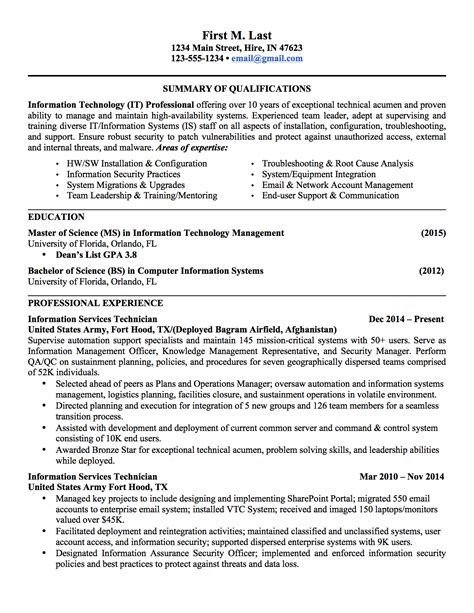 Resumes For Civilian Exles by 6 Sle To Civilian Resumes Hirepurpose