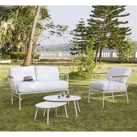 canapé de jardin pas cher canapé de jardin 2 places en métal blanc canapé de jardin maisons du monde ventes