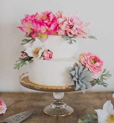 incredible silk flower diy wedding cake