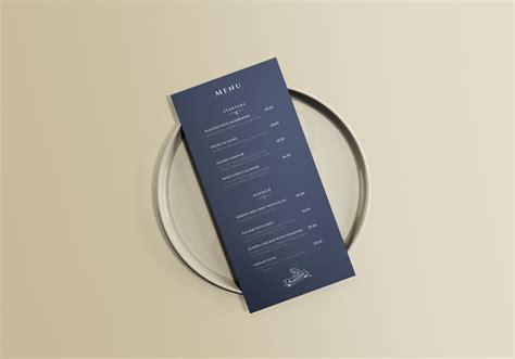 Free customizable menu mockup scene to showcase your stationery branding design in a photorealistic look. Restaurant Menu Mockup