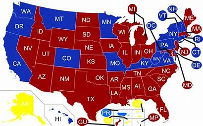 States Map Governors United Republican Party American