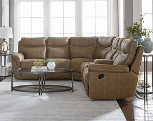 Boardwalk 3 pc reclining sectional sofa american freight for Sectional sofas with 3 recliners