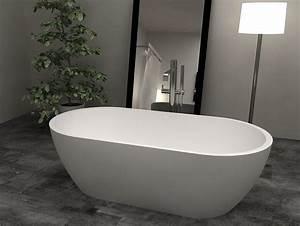 Baignoire A Poser : baignoire design bs s17 stone 160x80x54cm ~ Edinachiropracticcenter.com Idées de Décoration