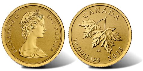 2015 Maple Leaves Gold Coin Features 1965 Effigy Of Queen
