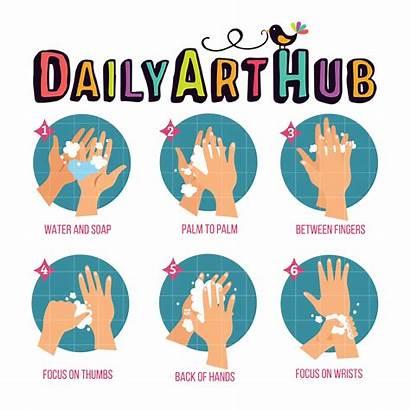 Washing Hands Icon Clip Dailyarthub Hub Everyday