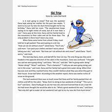 Reading Comprehension Worksheet  Ski Trip