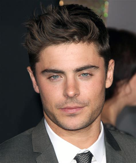 zac efron casual short straight hairstyle