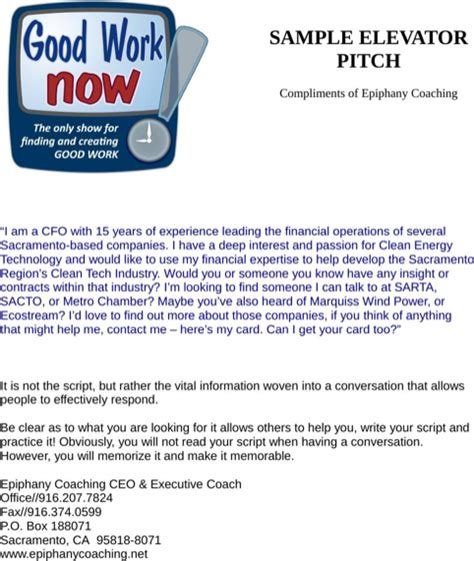 Elevator Pitch Resumen by Elevator Pitch Exles For Excel Pdf And Word