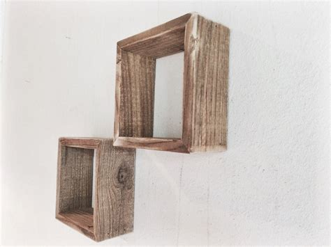 Wood Shelves Reclaimed Wood Set Of Two Square Wood