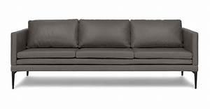 Gray Contemporary Sofa Empire Niagara Futon Gray ...