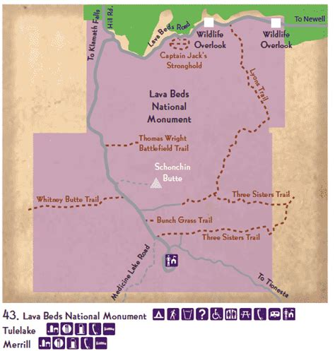lava beds national monument map lava beds national monument klamath basin birding trails