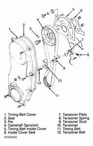 1993 Geo Tracker Serpentine Belt Routing And Timing Belt Diagrams