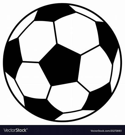Soccer Ball Vector Simple Vectorstock Playing 2021