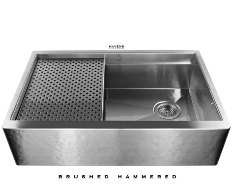 hammered stainless steel farmhouse sink copper and stainless steel farmhouse sinks havens metal