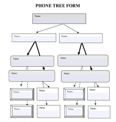 phone tree templates word excel  formats