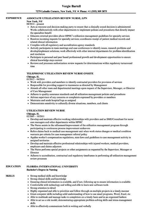 utilization review resume sles velvet