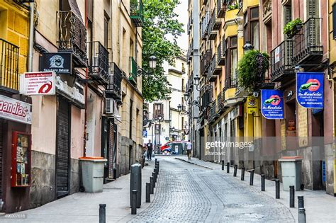 Streets Of Madrid Spain Stock Photo Getty Images