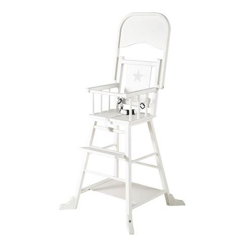 chaise haute pour bebe en bois blanche songe maisons du monde