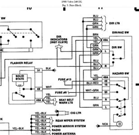 1989 Volvo 240 Wiring Diagram by 1988 Volvo 240 Left Turn Signal Does Not Work