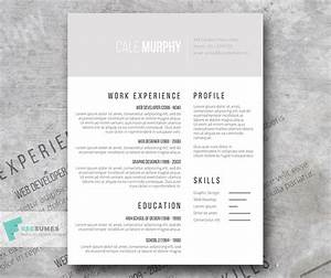 Free Minimalist CV Template Shades of Gray