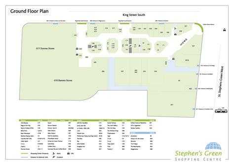 centre floor plans stephens green shopping centre