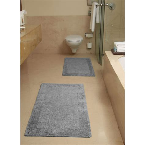 luxe collection cotton  piece bath rug set  reg