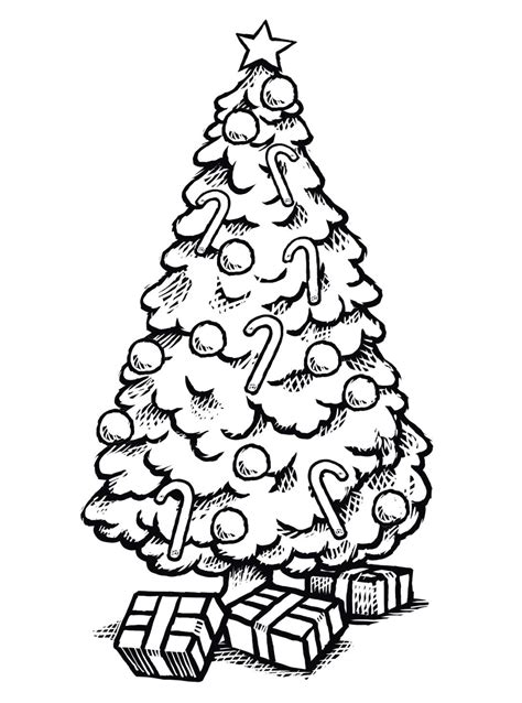 christmas tree coloring pages christmas tree drawing