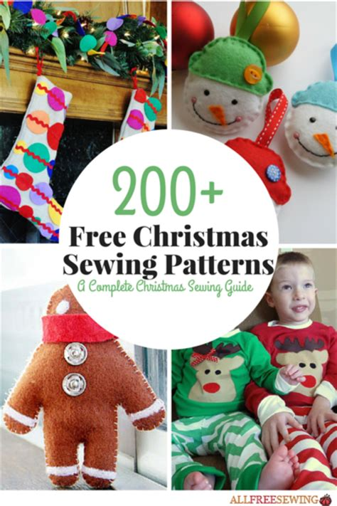 172 free christmas sewing patterns a complete christmas
