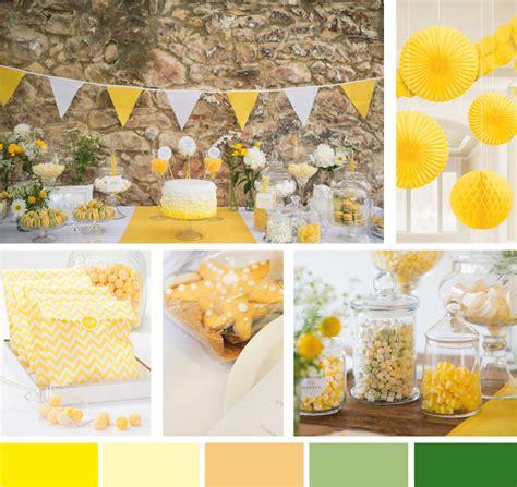 hochzeitsfarbe gelb  bridal shower blog