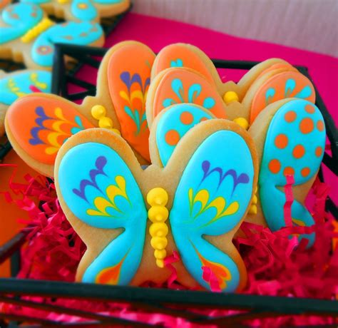cookie clinic butterfly cookies artsy wings