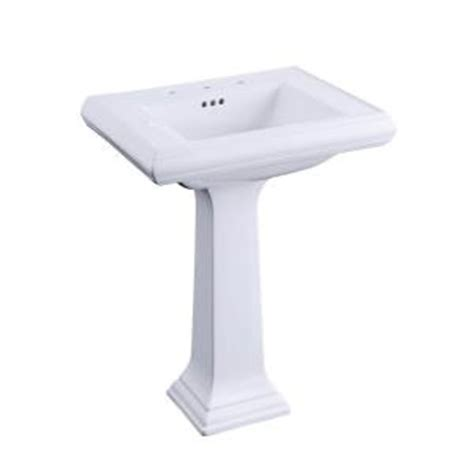 kohler memoirs pedestal bathroom sink combo with 8 in