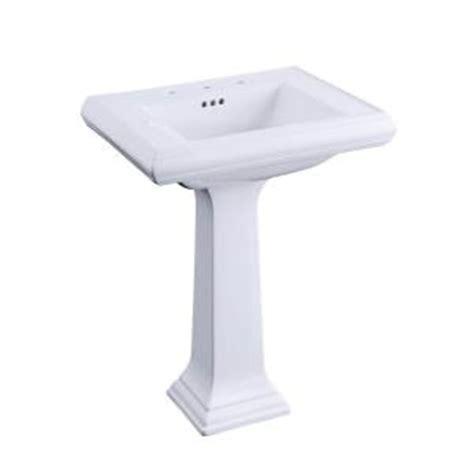 memoirs pedestal sink home depot kohler memoirs pedestal bathroom sink combo with 8 in