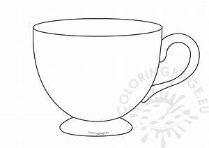 Tea Cup Template Printable  U2013 Coloring Page