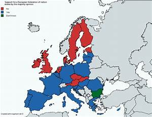 Support for a European federation of nation states ...