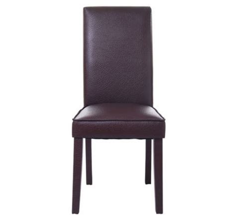 high back leather dining chair brown aosom ca