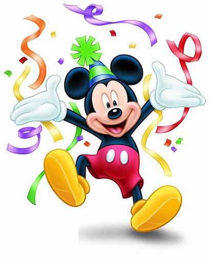 Mickey Mouse Birthday Minnie Clipart Happy Micky