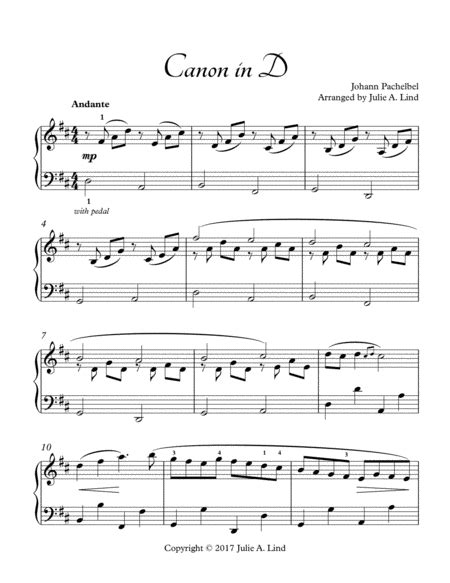 This free piano sheet music pdf for beginners has a popular history as a fiddle & guitar tune. Canon in D - Pachelbel, Intermediate Piano Solo   Classical guitar sheet music
