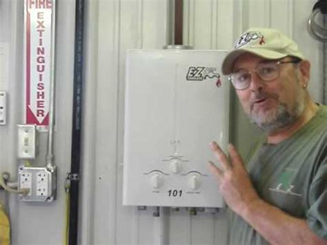 portable tankless water heater connections ez camping