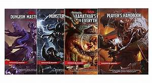 The Dungeons  U0026 Dragons Core Rulebooks And Xanathar U0026 39 S Guide