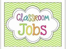 Classroom Jobs! {Bright Chevron} by A Cupcake for the