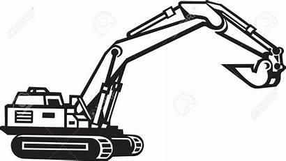 Excavator Clipart Backhoe Bucket Vector Excavators Equipment