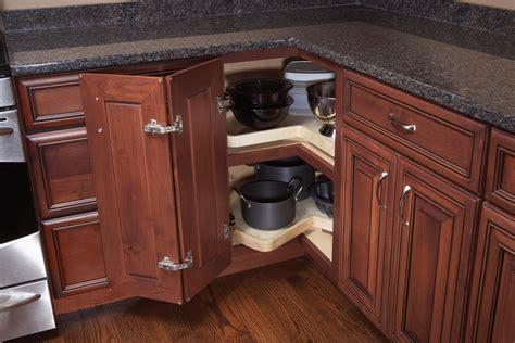 blind corner  super susan trays woodland cabinetry