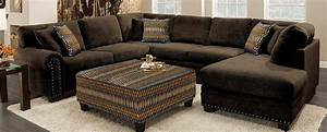 featured friday bingo chocolate brown 3 piece sectional With 3 piece brown sectional sofa