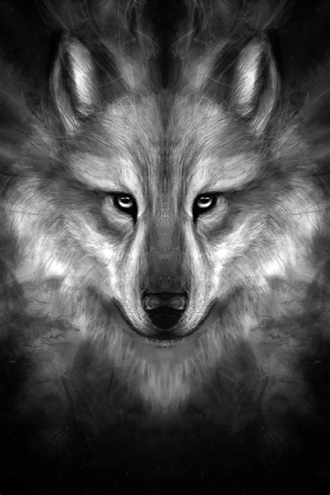 Geometric Wolf Phone Wallpaper by Freeios7 Wolf Story Center Freeios7 Iphone